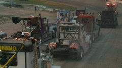 Motorsports, Big Rig racing, before the race, smoke and noise! Stock Footage