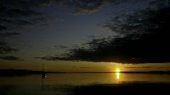 Sunrise on the Bay II Stock Footage