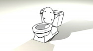 Stock Video Footage of toilet