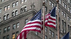 American Flag Flying in the Wind United States - stock footage