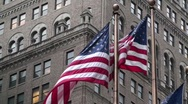 Stock Video Footage of American Flag Flying in the Wind United States