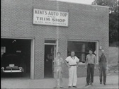 40s car trim shop Stock Footage