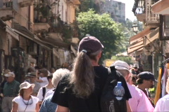 Busy Street in Taormina Stock Footage