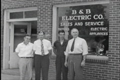 40s electric store - stock footage