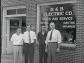 Stock Video Footage of 40s electric store