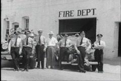 40s firemen Stock Footage