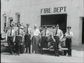 Stock Video Footage of 40s firemen