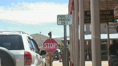 Tombstone Arizona - famous - humorous street sign Stock Footage