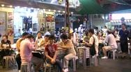 China Hong Kong Temple street night market food stall Stock Footage