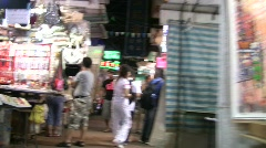 China Hong Kong Temple street open night market Stock Footage