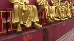 China Hong Kong Ten Thousand Buddha's Monastery temple Stock Footage