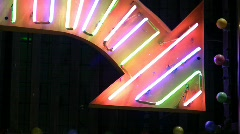 Stock Video Footage of China Hong Kong Mong kok prosperity neon sign light