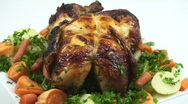 Barbecued chicken Stock Footage