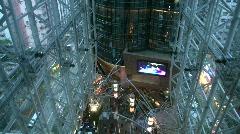 China Hong Kong Langham place shopping arcade mall Stock Footage