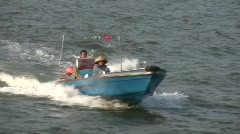 China Hong Kong Chinese motor sampan speed boat Stock Footage