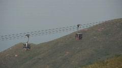 China Hong Kong Ngong Ping 360 Skyrail cable car Stock Footage