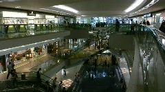 China Hong Kong modern Festival walk shopping arcade mall Stock Footage