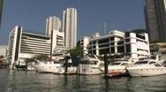 China Hong Kong Chinese junks sampans Aberdeen harbor Stock Footage