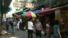 China Hong Kong Hong Kong Ap Lei Chau market Stock Footage