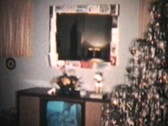 Stock Video Footage of Christmas Scene from 1960 (Vintage 8mm film footage)