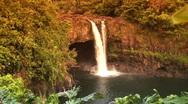 Rainbow falls, Maui, Hawaii Stock Footage