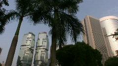 China Hong Kong Park Lippo center Stock Footage