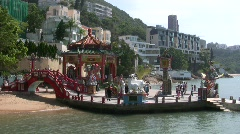 China Hong Kong Repulse bay Tin Hau temple sculpture Stock Footage