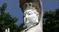 China Hong Kong Repulse bay Tin Hau temple sculpture Stock Footage