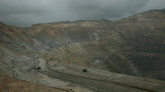 Kennecott Copper Mine open pit rain pan P HD 0307 Stock Footage