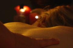 Female Back massage 2 Stock Footage