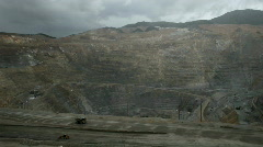 Kennecott Copper Mine open pit Utah P HD 0303 Stock Footage