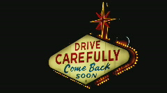 Stock Video Footage of WelcomeToVegas ComeBackSoon