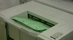 Copy machine paper out Stock Footage