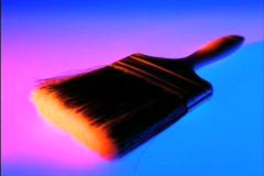 Stylized Paint Brush Stock Footage
