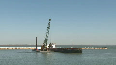 Port construction time lapse Stock Footage