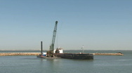 Stock Video Footage of Port construction time lapse
