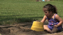 Girl in Sandbox 655 - stock footage