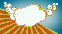 FUNKY SEVENTIES CLOUDS V1 - stock footage