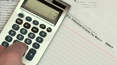 Filing income taxes  - HD  Stock Footage