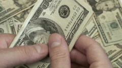 Counting money - HD  Stock Footage