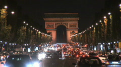 Stock Video Footage of Champs Elysees Night