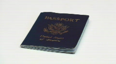 United States passport - HD  - stock footage