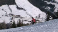 Stock Video Footage of skiing
