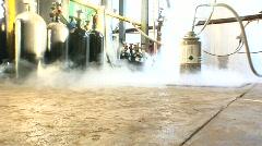 Liquid Nitrogen 2 shots Stock Footage