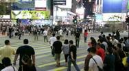 People crossing street speeded up Stock Footage