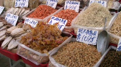 China Hong Kong Sheung Wan street open-air market Stock Footage