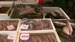 China Hong Kong traditional Chinese open air Graham street market Stock Footage