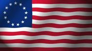 Betsy Ross Revolutionary U.S. Flag Stock Footage