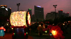 Chinese Mid-Autumn Moon Cake Lantern festival Stock Footage