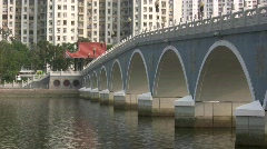 Hong Kong government social apartment building China Asia Stock Footage